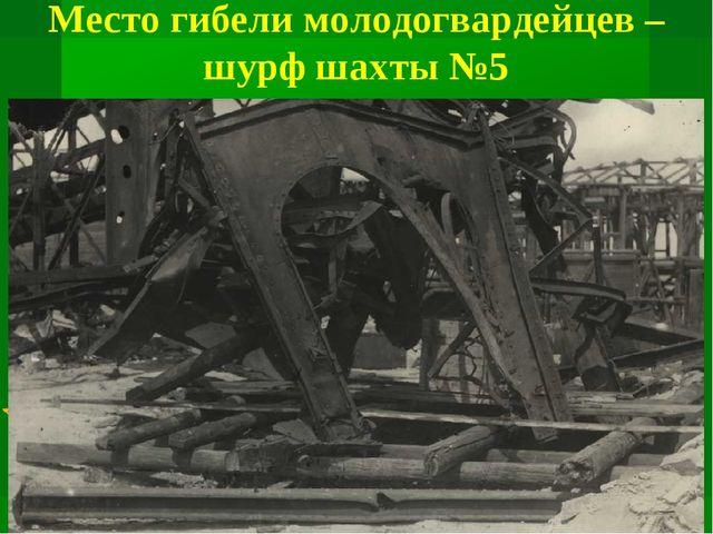 Место гибели молодогвардейцев – шурф шахты №5