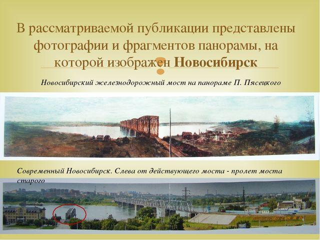 В рассматриваемой публикации представлены фотографии и фрагментов панорамы, н...