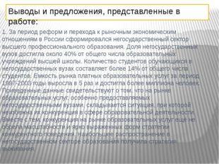 1. За период реформ и перехода к рыночным экономическим отношениям в России с