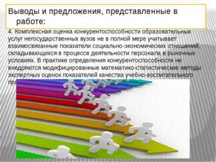 Выводы и предложения, представленные в работе: 4. Комплексная оценка конкурен