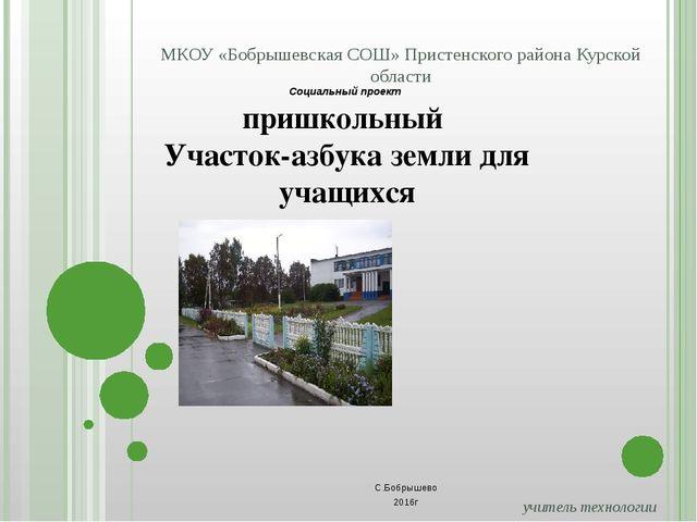 учитель технологии Колесникова Ирина Викторовна 306220, Курская область, При...