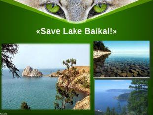 «Save Lake Baikal!»