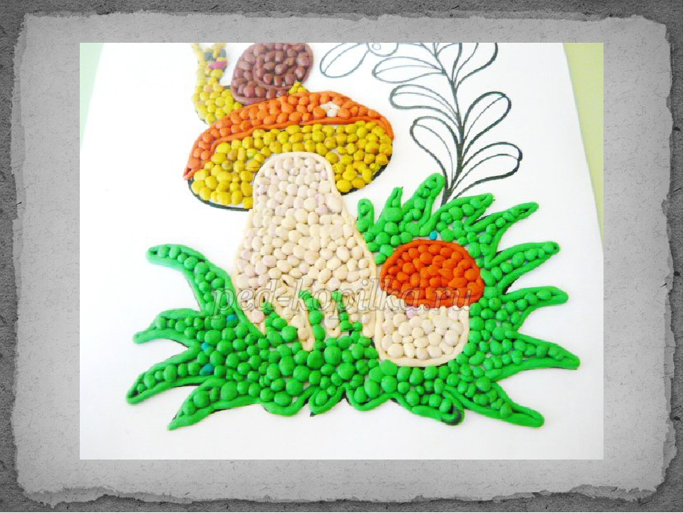 Картинки кружок пластилинография