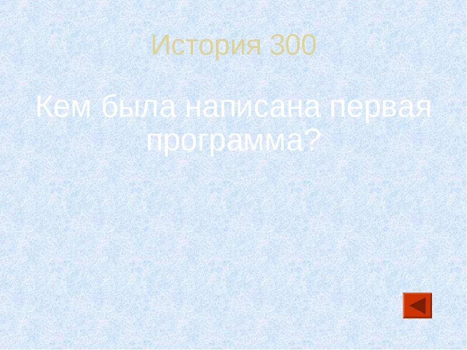 История 300 Кем была написана первая программа?