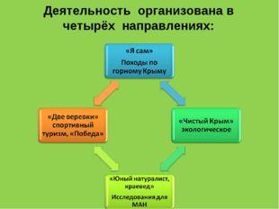 Деятельность организована в четырёх направлениях: . .