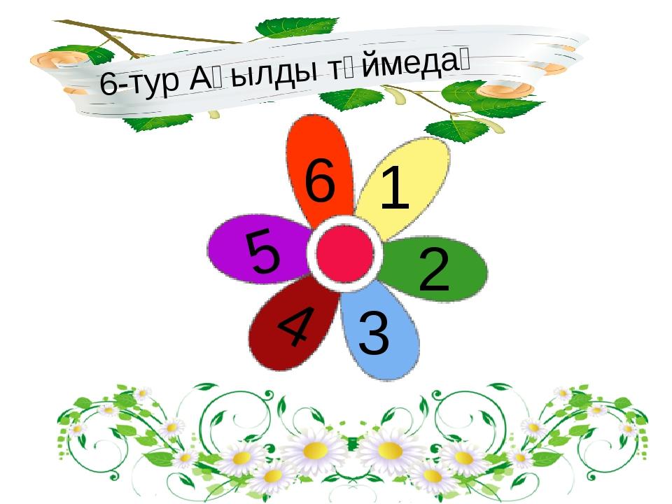 6-тур Ақылды түймедақ 1 2 3 4 5 6