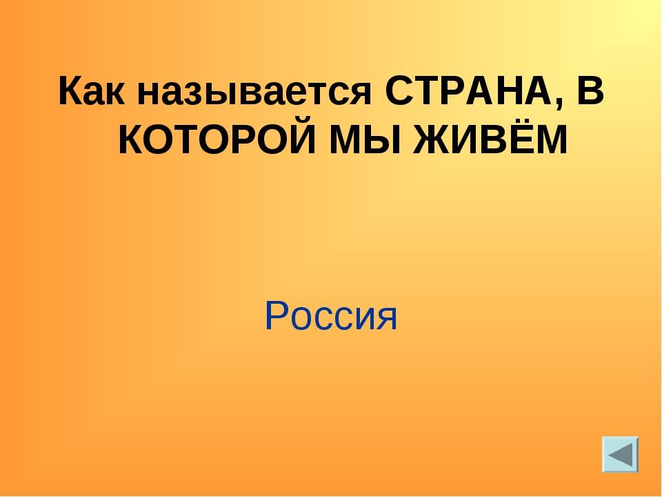 Как называется СТРАНА, В КОТОРОЙ МЫ ЖИВЁМ Россия