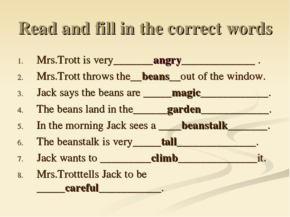 Read and fill in the correct words Mrs.Trott is very_______angry_____________...