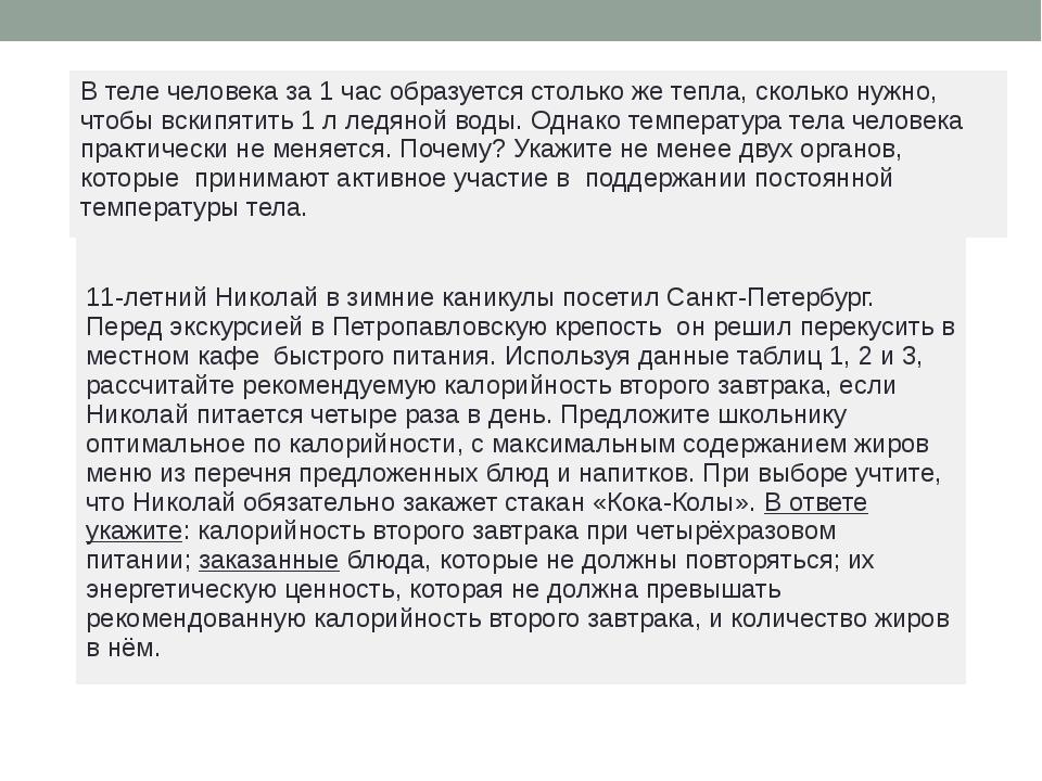 11-летний Николай в зимние каникулы посетил Санкт-Петербург. Перед экскурсие...