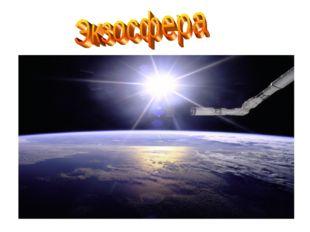 Экзосфера граничит с космосом и практически не содержит воздуха. Из-за слабой