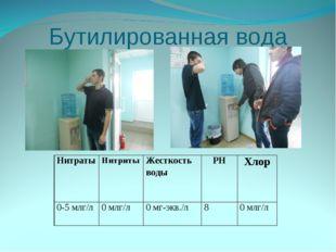 Бутилированная вода НитратыНитритыЖесткость водыPHХлор 0-5 млг/л0 млг/л