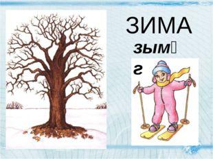 ЗИМА зымᴂг ЗИМА Детишки одеваются в теплые комбинезончики. Деревьям тоже холо