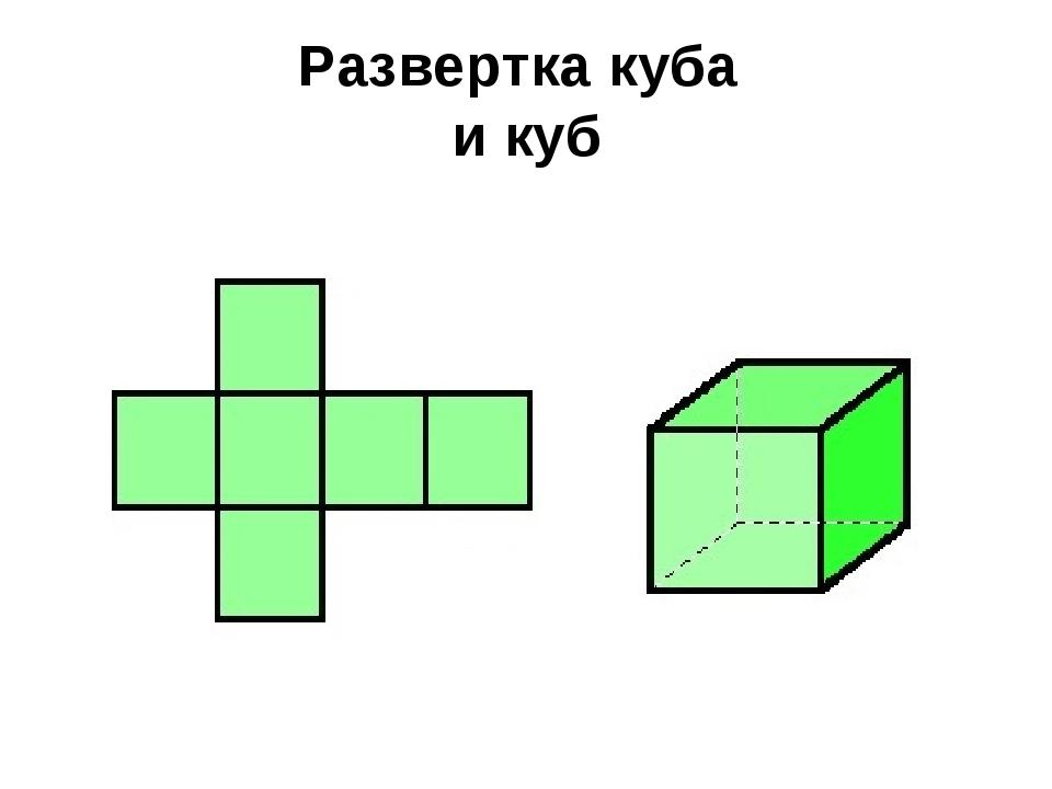 Развертка куба и куб