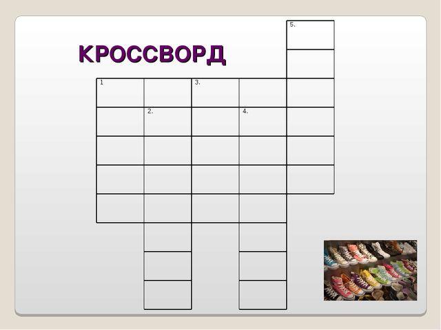 КРОССВОРД 5.  13. 2.4.