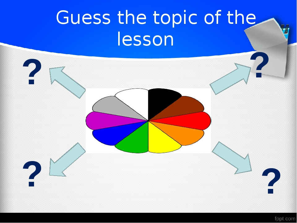 Guess the topic of the lesson ? ? ? ?