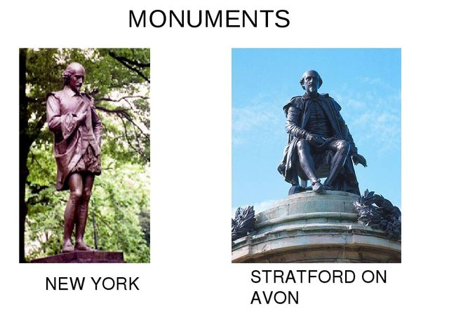 NEW YORK STRATFORD ON AVON MONUMENTS