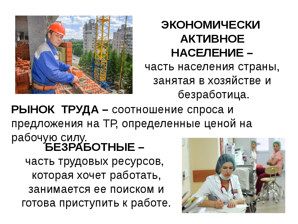 ЭКОНОМИЧЕСКИ АКТИВНОЕ НАСЕЛЕНИЕ – часть населения страны, занятая в хозяйстве...