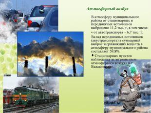 Атмосферный воздух В атмосферу муниципального района от стационарных и передв