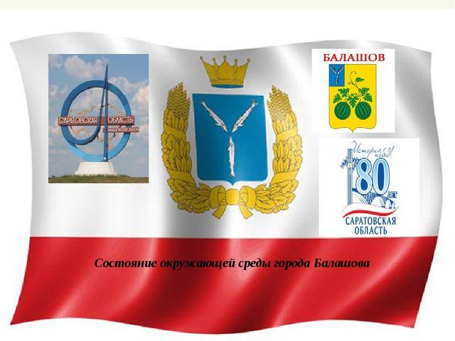Состояние окружающей среды города Балашова