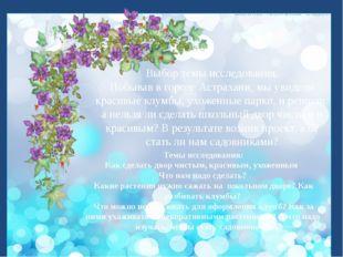 Выбор темы исследования. Побывав в городе Астрахани, мы увидели красивые клу