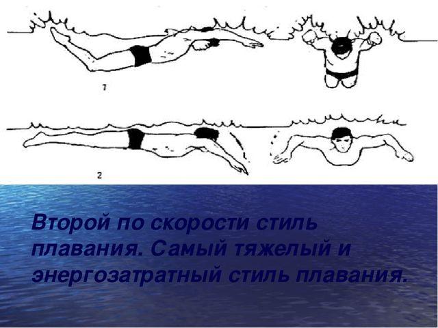 Второй по скорости стиль плавания. Самый тяжелый и энергозатратный стиль плав...