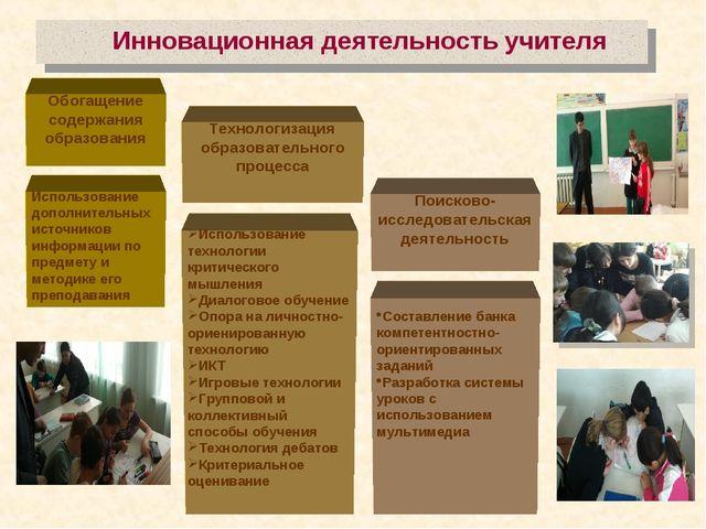 Инновационная деятельность учителя