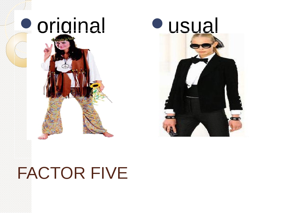 FACTOR FIVE original usual