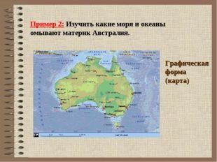 Пример 2: Изучить какие моря и океаны омывают материк Австралия. Графическая