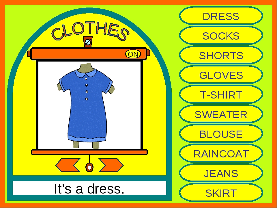 ON It's a dress. DRESS SOCKS SHORTS GLOVES T-SHIRT SWEATER BLOUSE RAINCOAT JE...