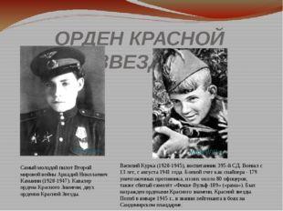 ОРДЕН КРАСНОЙ ЗВЕЗДЫ Самый молодой пилот Второй мировой войны Аркадий Николае
