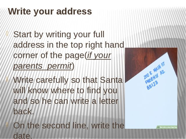Write your address Start by writing your full address in the top right hand c...