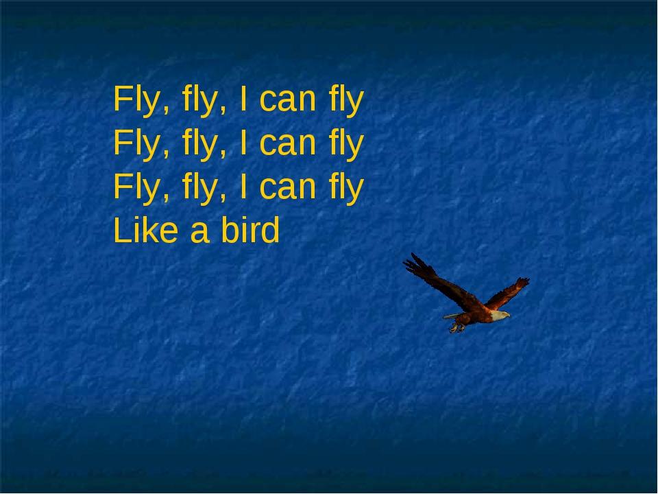 Fly, fly, I can fly Fly, fly, I can fly Fly, fly, I can fly Like a bird