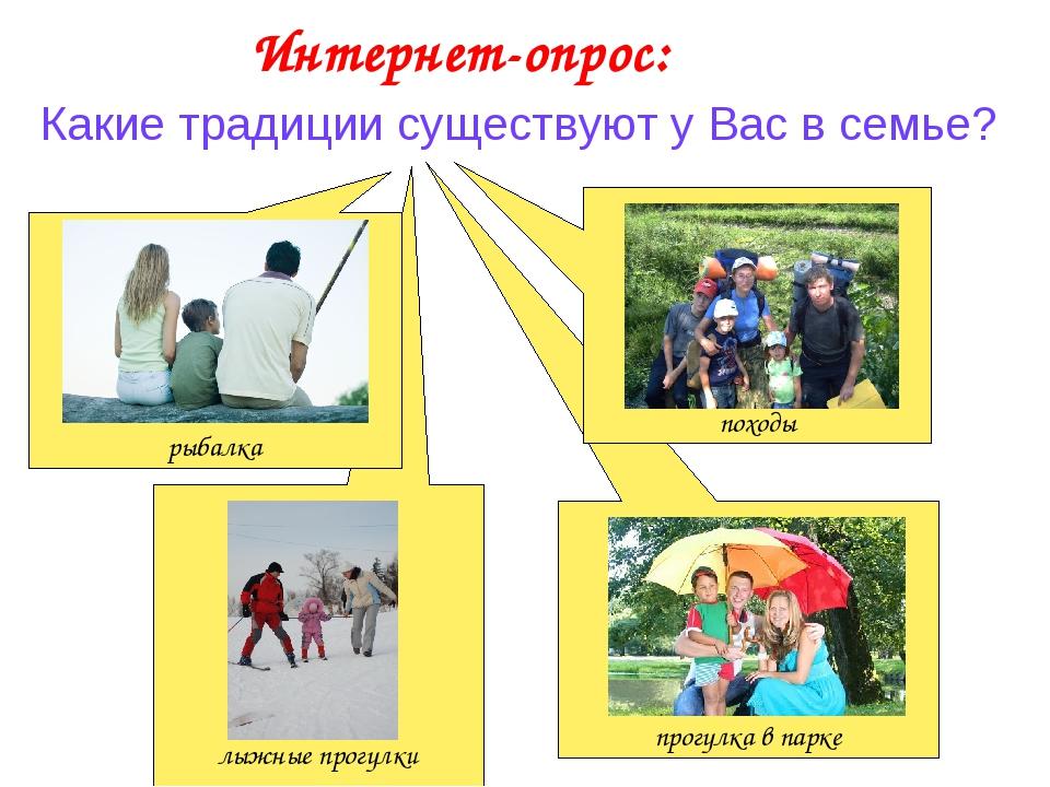 лыжные прогулки прогулка в парке Какие традиции существуют у Вас в семье? Ин...
