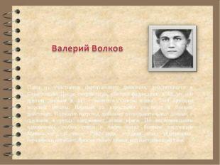 Один из участников партизанского движения, действующего в Севастополе. После
