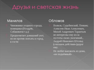 Чиновники уездного города, помещики (Ноздрёв, Собакевичи т.д.) Предпочитает д
