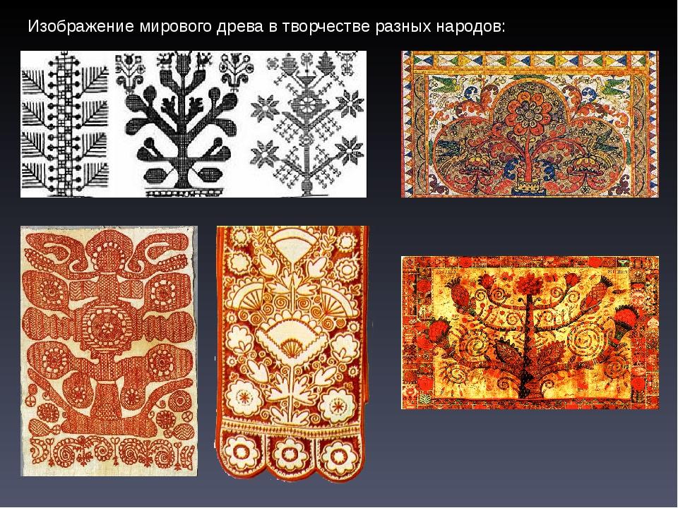 Изображение мирового древа в творчестве разных народов:
