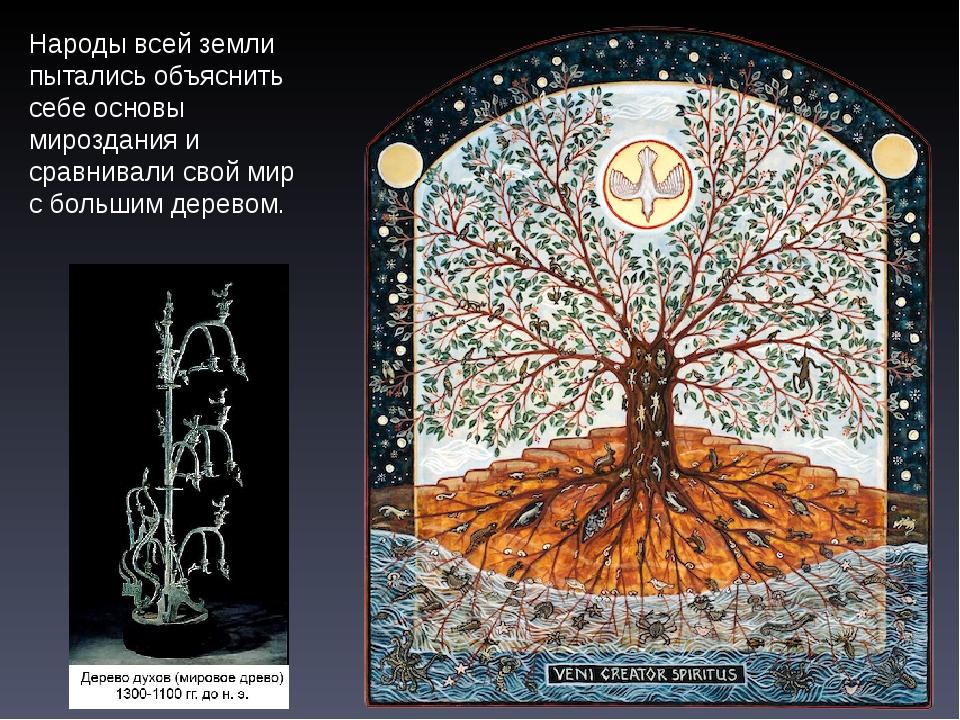 Народы всей земли пытались объяснить себе основы мироздания и сравнивали свой...