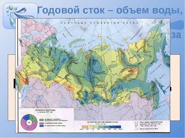 Годовой сток – объем воды, протекающий через поперечное сечение реки за год Г...