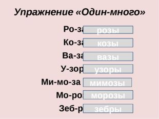 Упражнение «Один-много»