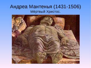 Андреа Мантенья (1431-1506) Мёртвый Христос.