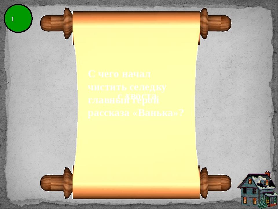 8 Какой адрес Ванька написал на конверте? На деревню дедушке.