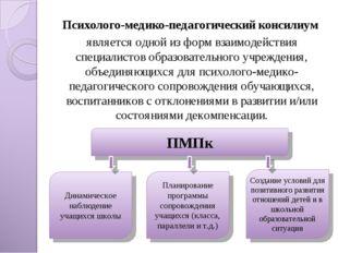 Психолого-медико-педагогический консилиум является одной из форм взаимодейств