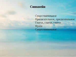 Синквейн Существительное Прилагательное, прилагательное Глагол, глагол, глаг