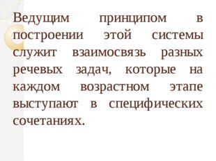 Ведущим принципом в построении этой системы служит взаимосвязь разных речевых