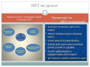 Формы подачи и оценивания знаний с помощью ИКТ Преимущества ИКТ-технологий ИК