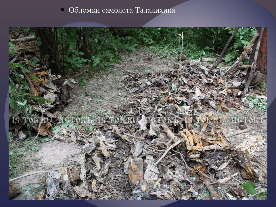 Обломки самолета Талалихина