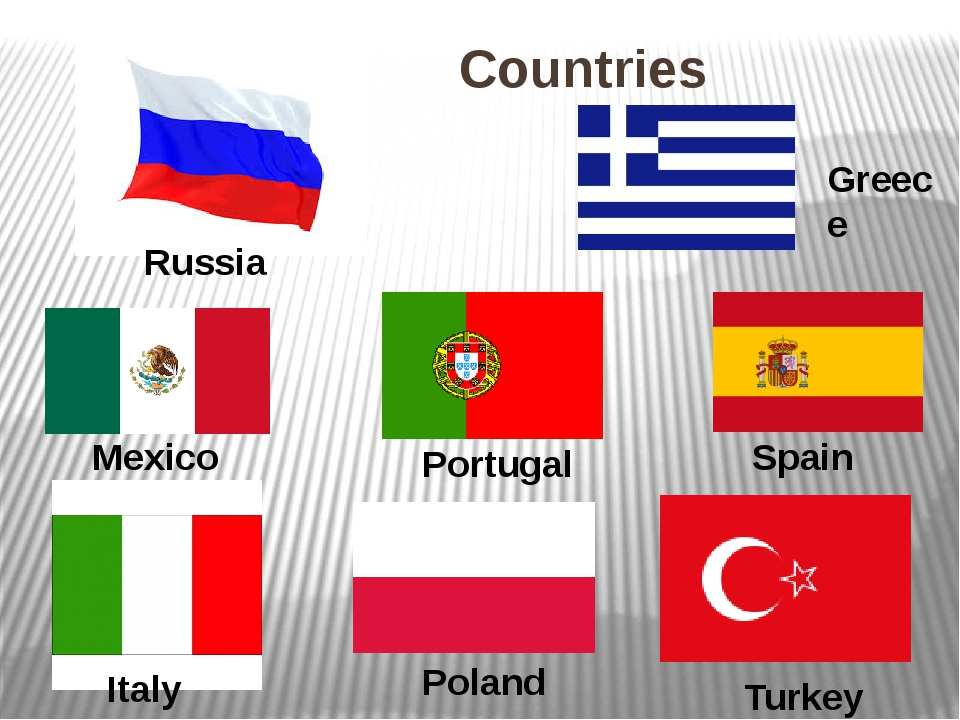 Countries Russia Greece Mexico Portugal Spain Italy Poland Turkey