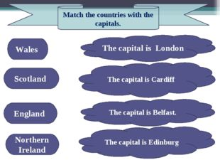 Wales Northern Ireland Scotland England The capital is London The capital is
