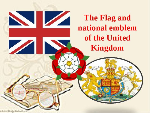 The Flag and national emblem of the United Kingdom