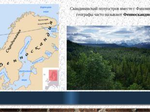 Скандинавский полуостров вместе с Финляндией географы часто называют Фенноска